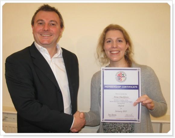 Anna Certificate Presentation