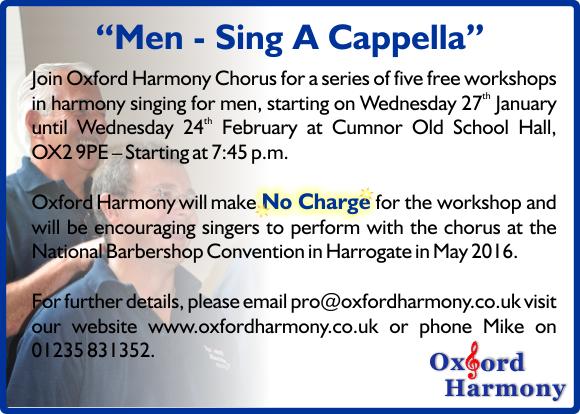 Sing A Cappella Advert 2016